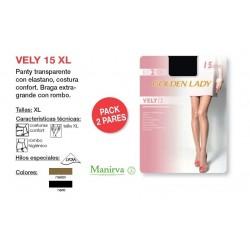 Panty mujer supertalla transparente 15 den