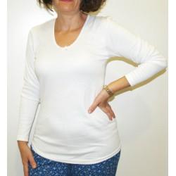 Camiseta interior mujer afelpada