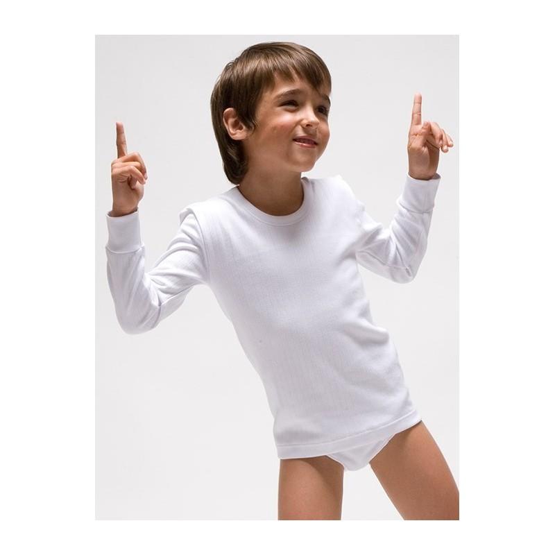 Camiseta interior niño manga larga