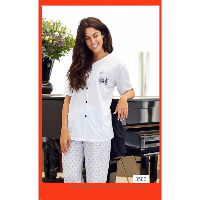 6716fd796 pijama mujer verano PANTALÓN LARGO. Loading zoom