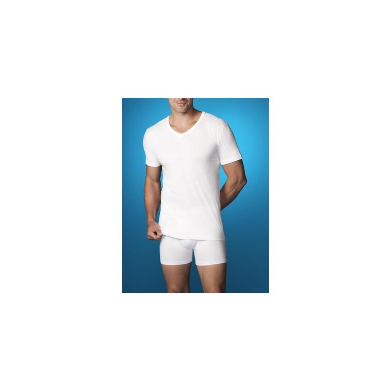 Camiseta interior hombre manga corta