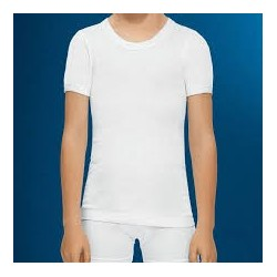 Camiseta interior niño manga corta